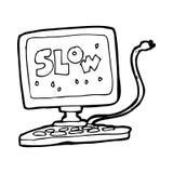Cartoon slow computer Stock Photos