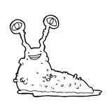 Cartoon slug Stock Images