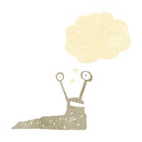 Cartoon slug with thought bubble Royalty Free Stock Photo