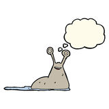 Cartoon slug with thought bubble Stock Photography