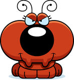 Cartoon Sly Ant. A cartoon illustration of a little ant with a sly expression Royalty Free Stock Images