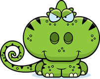 Cartoon Sly Chameleon. A cartoon illustration of a chameleon with a sly expression Stock Photo
