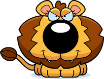 Cartoon Sly Lion Cub Stock Images