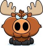 Cartoon Sly Moose Royalty Free Stock Photo