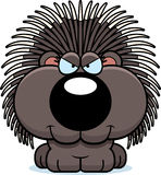 Cartoon Sly Porcupine. A cartoon illustration of a porcupine with a sly expression Stock Image