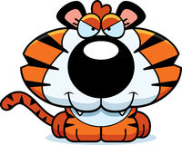 Cartoon Sly Tiger Cub Stock Photo