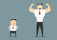 Cartoon small and big businessmen Stock Image