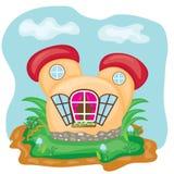 Cartoon small fairy house. Vector illustration Royalty Free Stock Photos