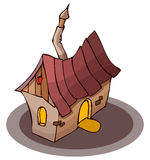 Cartoon Small House, Vector Illustration Stock Photos