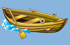 Cartoon small plane - caricature Stock Images
