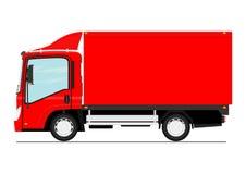 Cartoon small truck. Cartoon modern small truck. Side view. Flat vector stock illustration