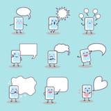 Cartoon smart phone speech bubble Royalty Free Stock Photo