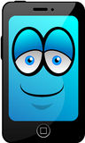 Cartoon Smartphone. New smartphone, mobile phone or tablet Royalty Free Stock Images