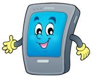 Cartoon smartphone theme 1 Stock Photos