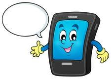 Cartoon smartphone theme 3 Stock Photos