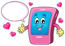 Cartoon smartphone theme 4 Stock Photo