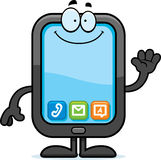 Cartoon Smartphone Waving Royalty Free Stock Photos