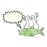 Cartoon smelly fish with speech bubble Royalty Free Stock Photo