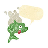 cartoon smelly fish with speech bubble Royalty Free Stock Images