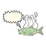 cartoon smelly fish with speech bubble Royalty Free Stock Photo