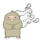 Cartoon smelly monk Stock Photography