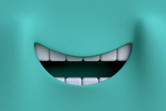 Cartoon smile. Element character's face. Stock Photo