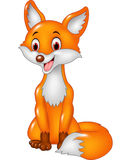 Cartoon smiley fox sitting Royalty Free Stock Photography