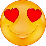 Cartoon Smiley in love Royalty Free Stock Photography