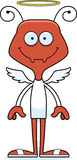 Cartoon Smiling Angel Ant Stock Image