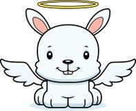 Cartoon Smiling Angel Bunny Stock Photo