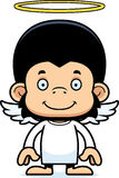 Cartoon Smiling Angel Chimpanzee Stock Images
