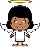 Cartoon Smiling Angel Girl Royalty Free Stock Images