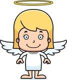 Cartoon Smiling Angel Girl Stock Photo