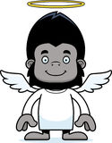 Cartoon Smiling Angel Gorilla Stock Image