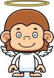 Cartoon Smiling Angel Monkey Stock Images