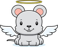 Cartoon Smiling Angel Mouse Stock Photo