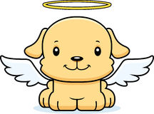 Cartoon Smiling Angel Puppy. A cartoon angel puppy smiling vector illustration