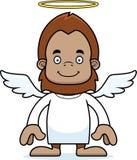 Cartoon Smiling Angel Sasquatch Stock Photos