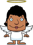Cartoon Smiling Angel Woman Stock Images