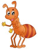 Cartoon smiling ant Royalty Free Stock Photos