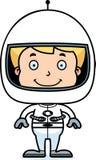 Cartoon Smiling Astronaut Boy Royalty Free Stock Photos