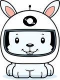 Cartoon Smiling Astronaut Bunny Stock Photography