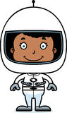 Cartoon Smiling Astronaut Girl Stock Photo