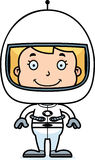 Cartoon Smiling Astronaut Girl Stock Image