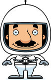Cartoon Smiling Astronaut Man Stock Image