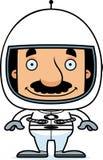 Cartoon Smiling Astronaut Man Stock Image