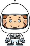 Cartoon Smiling Astronaut Monkey Stock Photo