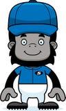 Cartoon Smiling Baseball Player Gorilla Stock Photography