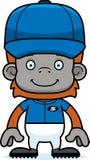 Cartoon Smiling Baseball Player Orangutan Stock Photos