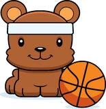 Cartoon Smiling Basketball Player Bear Royalty Free Stock Photo